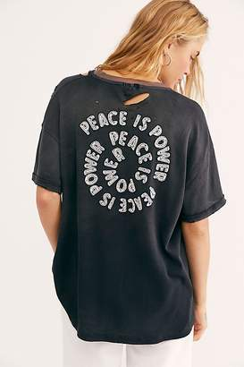 We The Free Peace Is Power Tee by at Free People