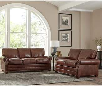 17 Stories Lyndsey 2 Piece Leather Living Room Set 17 Stories Upholstery Color: Steel Gray