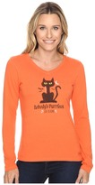 Life is Good Nobody's Purrfect Cat Long Sleeve Crusher Vee