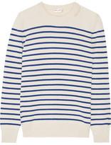 Saint Laurent Striped Cashmere Sweater - Ivory