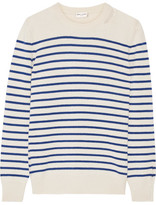 Saint Laurent Striped Cashmere Sweater - small