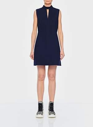 Tibi Bond Stretch Knit Sleeveless A-Line Dress