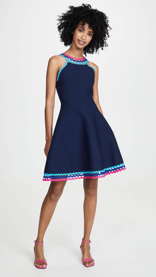 Milly Diamond Cut Flare Dress