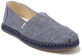 Toms Alpargata Blue Canvas Slip-On Sneaker