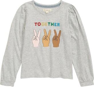 Tucker + Tate Kids' Puff Sleeve Graphic Tee