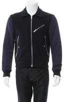 Acne Studios Textured Rib Knit-Trimmed Jacket