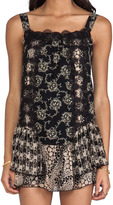 Anna Sui Madeleine Mixed Prints Lace Dress