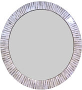 Regina-Andrew Design Multi-Tone Bone Accent Mirror, White