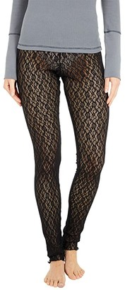 Free People Layered in Lace Leggings (Black) Women's Clothing