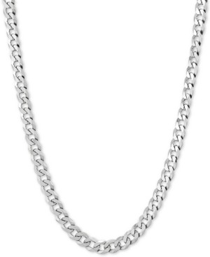 "Giani Bernini Flat Curb Link 24"" Chain Necklace in Sterling Silver"