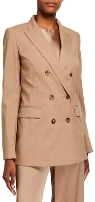 Lafayette 148 New York Slade High-Line Double-Breasted Suiting Jacket