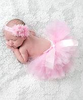 Pink Tutu & Flower Headband