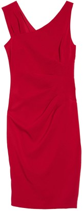 Laundry by Shelli Segal Core Asymmetrical Sheath Dress