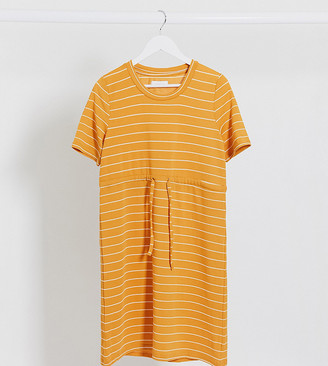 Mama Licious Mamalicious mini t-shirt dress in stripe