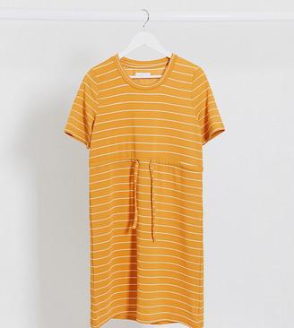 Mama Licious Mamalicious mini t-shirt dress in stripe