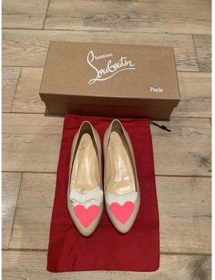 Christian Louboutin Pink Leather Ballet flats