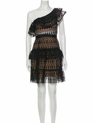 Self-Portrait Lace Pattern Mini Dress w/ Tags Black