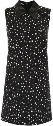 Miu Miu Mini Dress With Stars