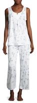 Midnight by Carole Hochman Capri Cotton Striped Pajama Set