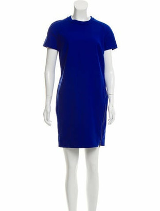 Lanvin Short Sleeve Mini Dress Blue