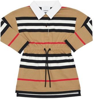 Burberry Striped Cotton Interlock Shirt Dress