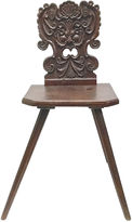 One Kings Lane Vintage Antique Welsh Carved Hall Chair