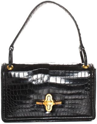 Hermes 1960S Black Crocodile Leather Handbag