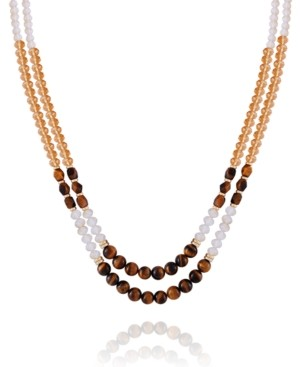 T Tahari Women's Lovely Baubles Beaded Statement Necklace