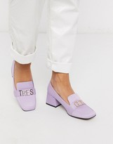 Simba Asos Design ASOS DESIGN mid-heeled loafers in purple