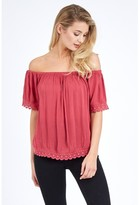 Select Fashion Fashion Plain Crochet Trim Blouse Shirts - size 6