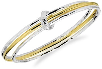 Ippolita Classico Two-Tone Hammered 3-Piece Bangle Set