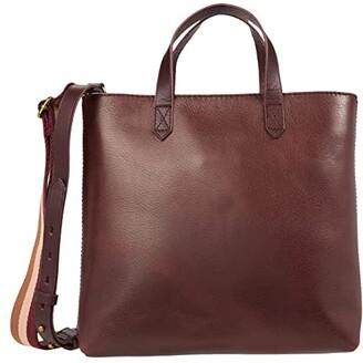Madewell The Zip Top Transport Crossbody (Dark Cabernet) Handbags