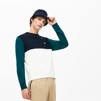 Lacoste Mens Regular Fit Colorblock French Terry Sweatshirt