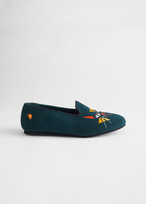 And other stories Cat Motif Loafer Slippers