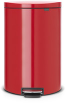 Brabantia Flatback Space-Saving Pedal Bin - 40 Litres - Passion Red