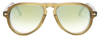 Jacques Marie Mage - Montana Acetate Aviator Sunglasses - Mens - Green