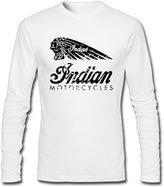 DielGar Indian Chief Motorcycles Men Long Sleeve Crew-neck T-Shirt