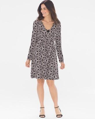 Soma Intimates Lace Wrap Dress Black/Tan