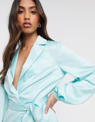 ASOS DESIGN soft satin suit blazer