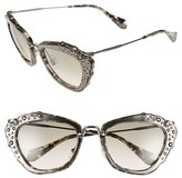 Miu Miu Women's 55Mm Sunglasses - Marble White/ Black
