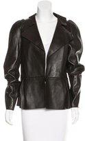 Marni Notch-Lapel Leather Jacket