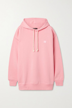 Acne Studios Appliqued Cotton-jersey Hoodie - Blush