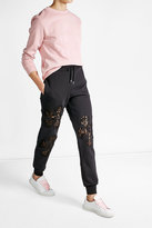 Moschino Cotton Sweatpants with Lace