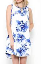 Ces Femme Blue Floral Dress