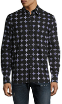 Diesel Black Gold Showregu Houndstooth Polka Dot Sportshirt
