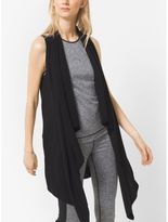 Michael Kors Draped Cotton-Blend Vest