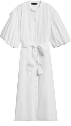 Banana Republic Poplin Puff-Sleeve Shirt Dress