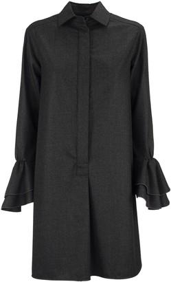 Max Mara Segovia Wool Flannel Dress