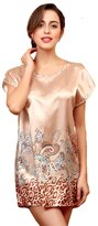 Emmahe Womens Sleepwear Satin Pajama Sexy Nightwear Nightress Nightgown