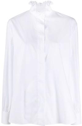 Alexandre Vauthier Boxy Fit Ruffle Collar Shirt